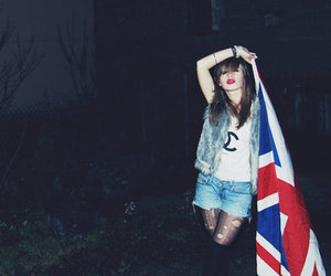 girl, flag, and chanel image