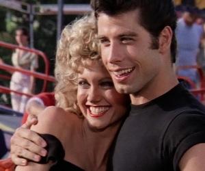 grease, couple, and John Travolta image