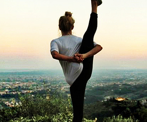 yoga, fit, and fitness image