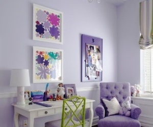 purple, bedroom, and home image