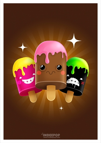 freaky, funny, and ice cream image
