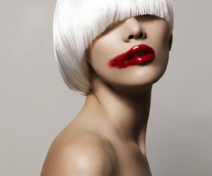 red, lips, and lipstick image
