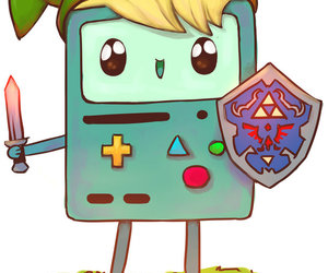 link, bmo, and adventure time image
