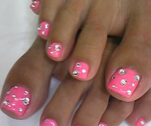 adorable, rhinestone, and nails image