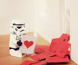 love, star wars, and heart image
