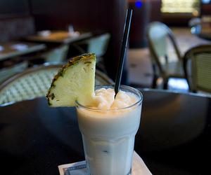 drink, pineapple, and pina colada image