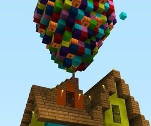 balloon, house, and up image