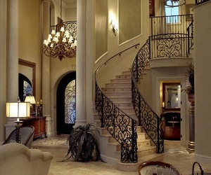 house, luxury, and staircase image