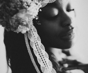 African, lips, and b&w image