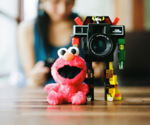 adorable, camera, and red image