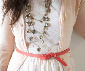 fashion, necklace, and belt image