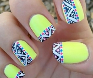 nails, cute, and tribal image