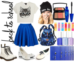 blue, cat, and fashion image