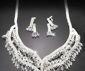 silvery, two layers, and and earrings) accessories image