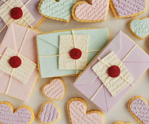 Cookies, heart, and letters image