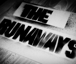 the runaways, band, and black and white image