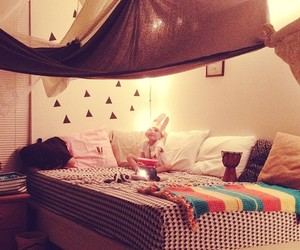 tent, tipi, and bedroom image