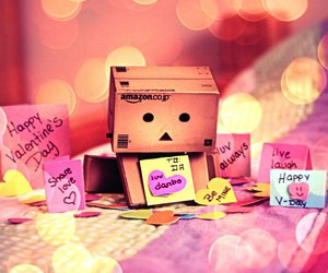danbo, Valentine's Day, and box image