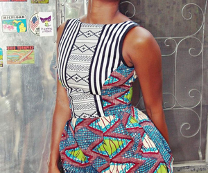 africa, dress, and print image