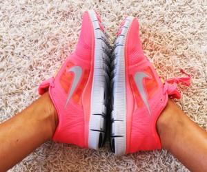 neon, nike, and pink image