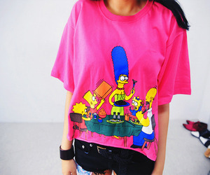 simpsons, girl, and pink image