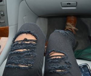 jeans, black, and cool image