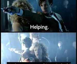 doctor who, matt smith, and river song image