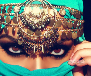eyes, hijab, and arab image