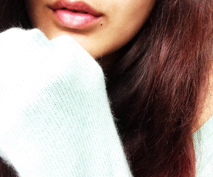 brown hair, lips, and photography image