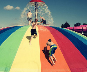 summer, boy, and fun image