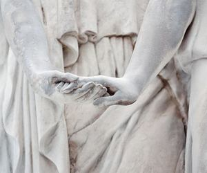 hands, statue, and art image