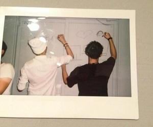 exo, kris, and polaroid image