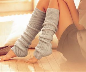 clothes, cozy, and leg warmers image