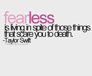 fearless, Taylor Swift, and quote image