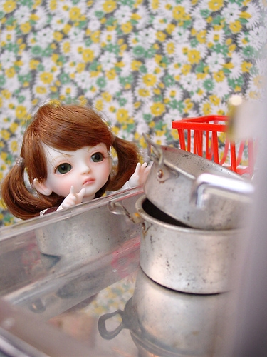 cabinet, doll, and flickr image