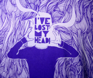 lost, head, and text image
