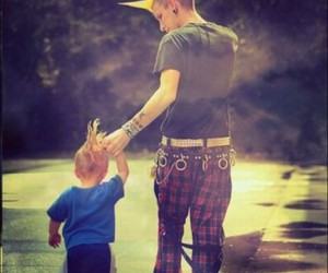 punk, child, and father image