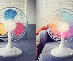 diy, fan, and rainbow image