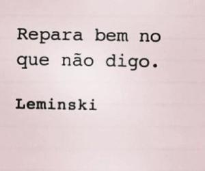 leminski and text image