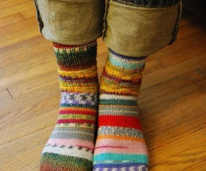 socks, winter, and jeans image