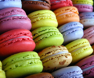 color, food, and macaroons image