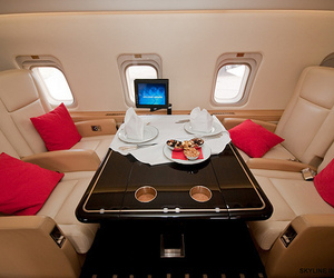 luxury, airplane, and pink image