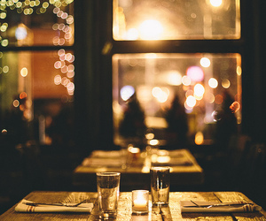 light, night, and dinner image