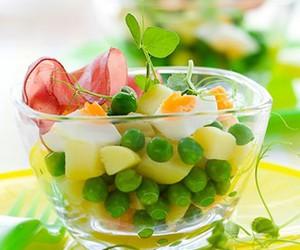 eggs, salad, and food image