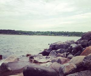 bay, beautiful, and rocks image