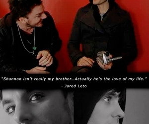 jared leto, shannon leto, and love image