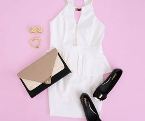 accesories, white, and dress image