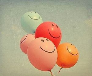 baloons and smiley image
