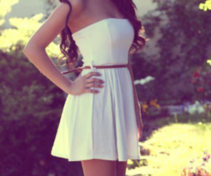 dress, fashion, and white image