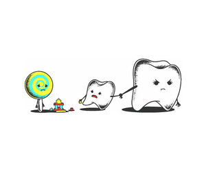 candy, teeth, and tooth image